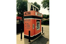 Automatic Teller Machine ATM Enclosure wrap graphics for North Shore Trust and Savings, Waukegan, IL